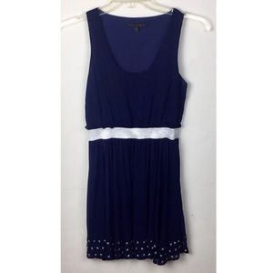 Lucca Couture Navy Blue Studded Sleeveless Dress